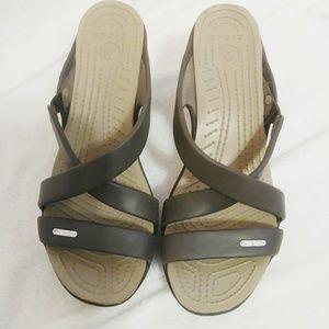 Crocs high heel sandals